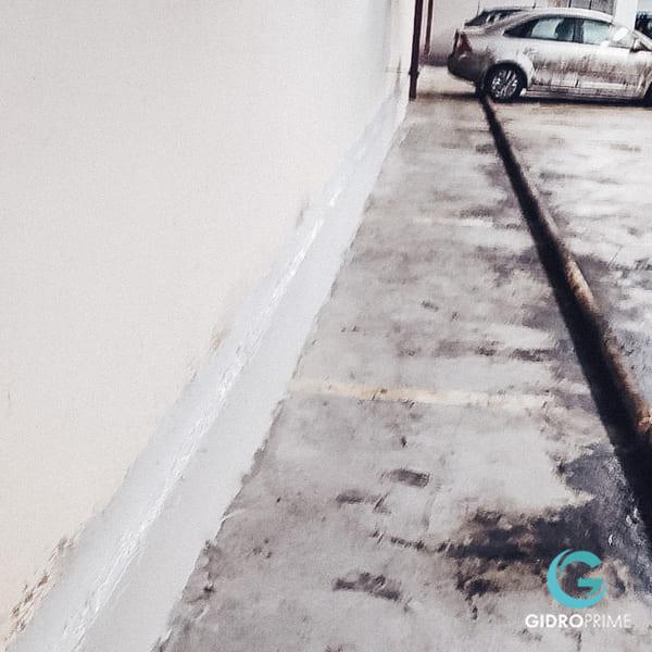 Gidroizolyaciya primykanij stena pol v podzemnom parkinge 14