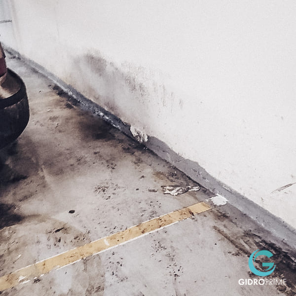 Gidroizolyaciya primykanij stena pol v podzemnom parkinge 2