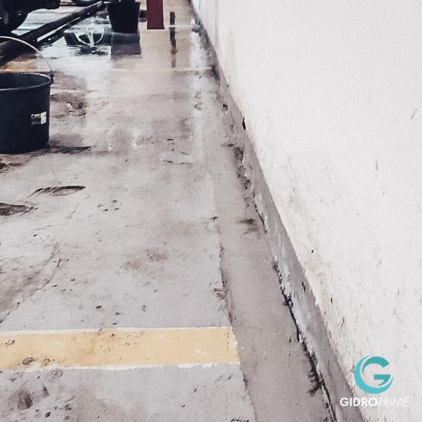 Gidroizolyaciya primykanij stena pol v podzemnom parkinge 5