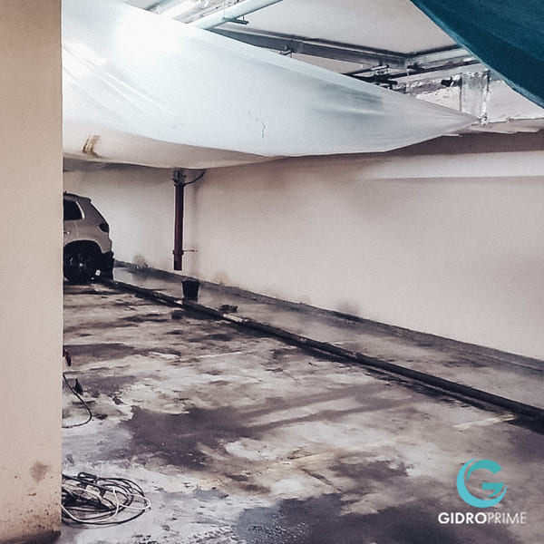 Gidroizolyaciya primykanij stena pol v podzemnom parkinge 6